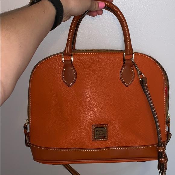 Dooney & Bourke Handbags - Dooney & Burke Pebble Leather Zip Zip Satchel